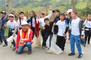 Niños y niñas de la escuela ciudad de Guachapala participaron en este proceso de sensibilización