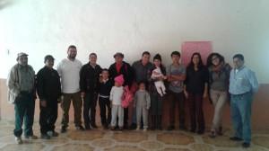 Miembros de la Aso. de Desarrollo Social y Comunitario de Parig durante los talleres formativos