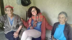 Davinia de Ramón cumple en el territorio algunas visitas domiciliarias